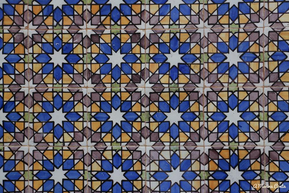 Detalhe do azulejo.