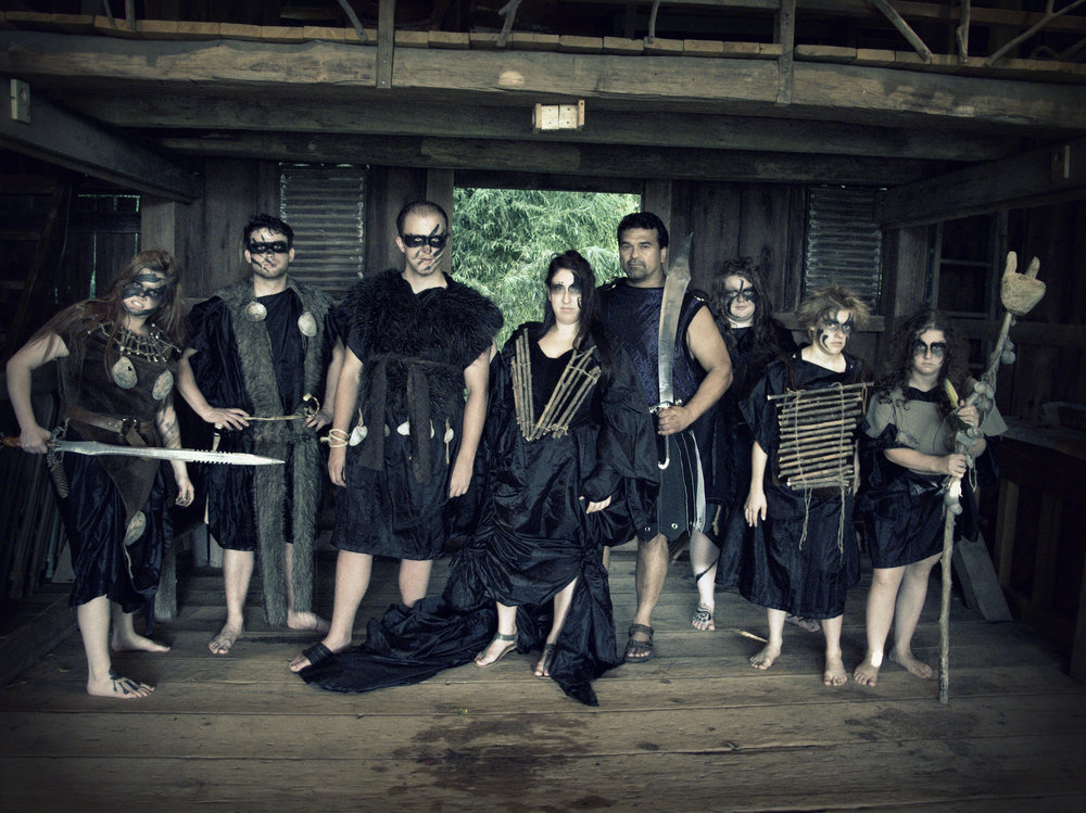 The Goths: Rebecca Schrom as the Commander, Ryan Szwaja as Chiron, Collins Wilson as Demetrius, Leann Hart as Tamora, Jack Ledger as Aaron the Moor, DANIELLE Laughead as the Nurse, Annie Kurz and Rowan Minney as Goth Soliders.