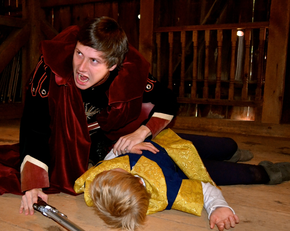 Hubert (william Wolfgang) discovers Prince Arthur (Jerry Ketterer) and the results of his escape attempt.