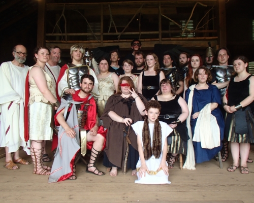 The Cast of OrangeMite's production of Julius Caesar.