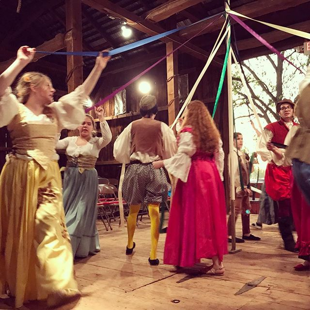 Come see our #maypole dance in our upcoming production!! #shakespeare #kinsmen #grassroots #theatre #community #may