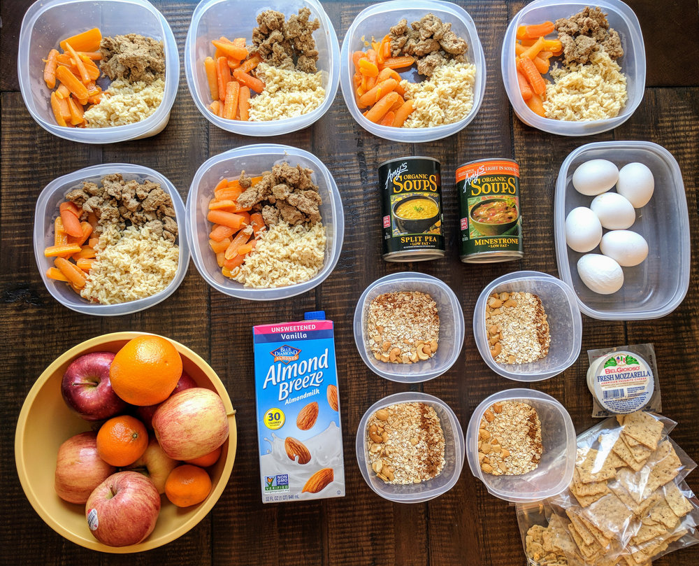 12 meals and 4 snacks completed in this meal prep in under 1 hour!