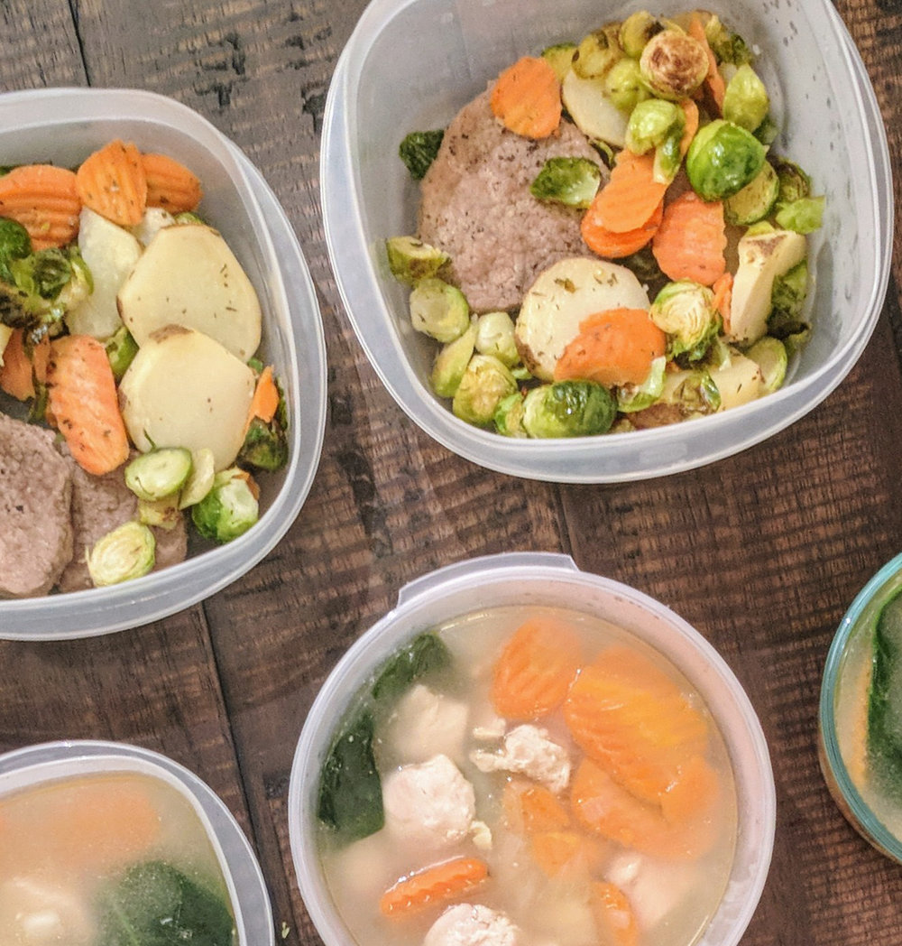 This meal prep provides these healthy and delicious protein and vegetable packed meals.  Preparing meals ahead of time makes healthy eating easy and gives you more time to enjoy with family and friends.