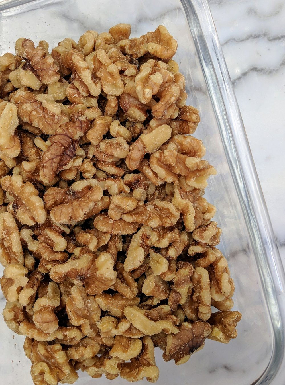 Walnuts are an excellent source of plant based omega 3 fatty acids. They are a nutrient dense snack perfect to keep at your desk, in your car, or backpack to fuel your through a long day.