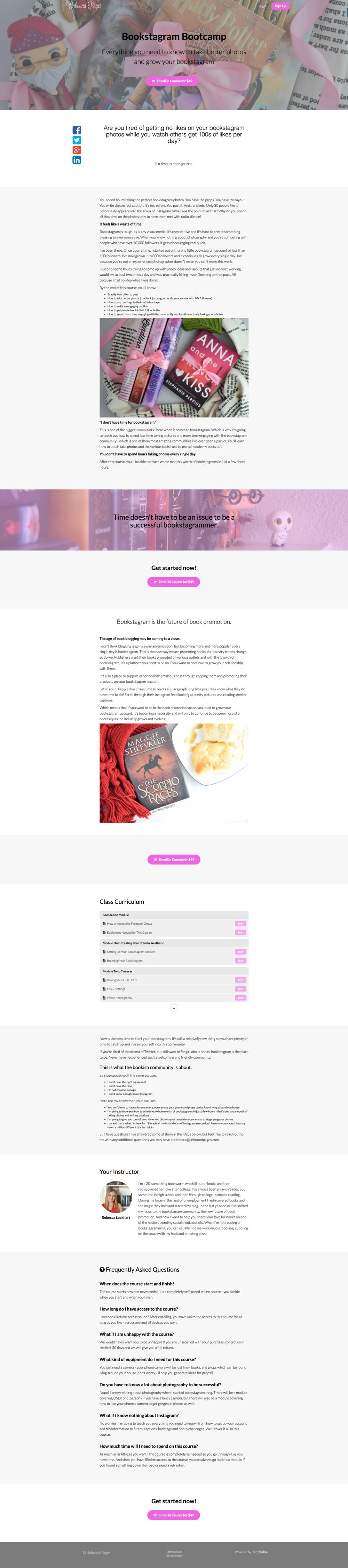 """Bookstagram Bootcamp"" by Rebecca Lockhart"