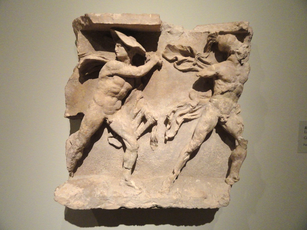 Relief of Ares and Hermes, now embodied in the planets Mars and Mercury.