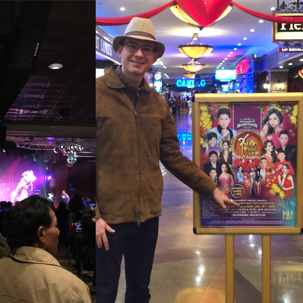 Celebrating the Vietnamese Lunar New Year with the Dragon at Boomtown Casino in Harvey, LA