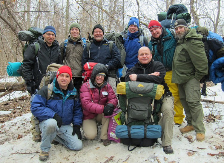 Wilderness First Aid Students in Winter