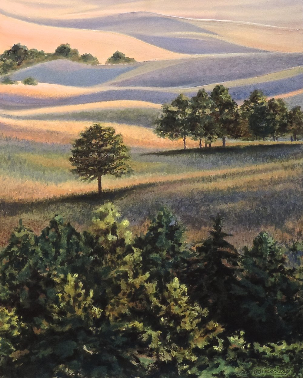 """Sandhills solitude"", halsey national forest, halsey, nebraska   SOLD   Pan Pastel® Cheri GInsburg ©"