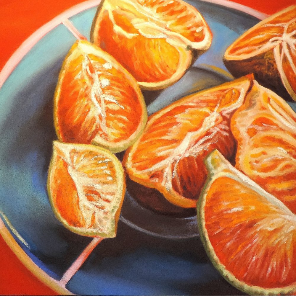"""orange you glad"", Costa Rica  PanPastel® Cheri GInsburg ©"