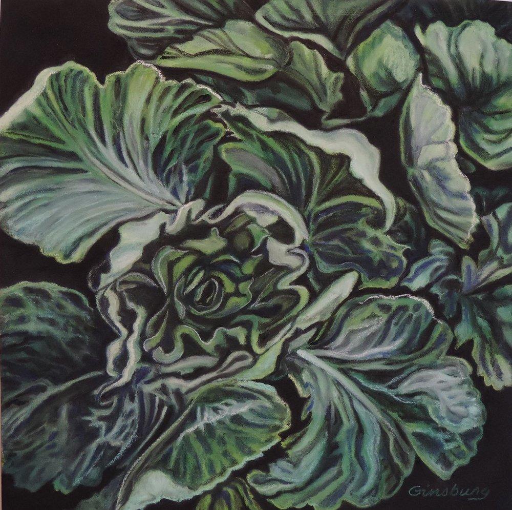 """leaf lettuce""  Pastel Cheri GInsburg ©"