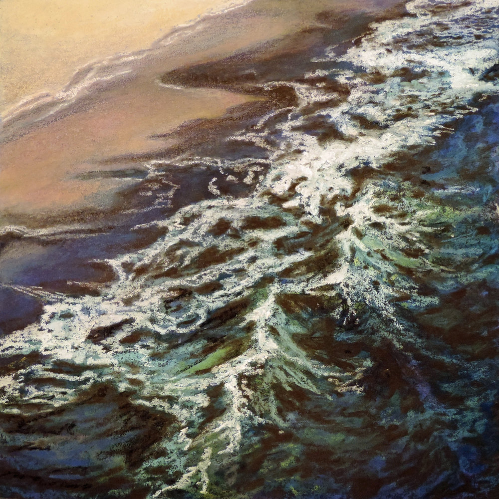 """breaking waves""  Pastel Cheri GInsburg ©  SOLD"