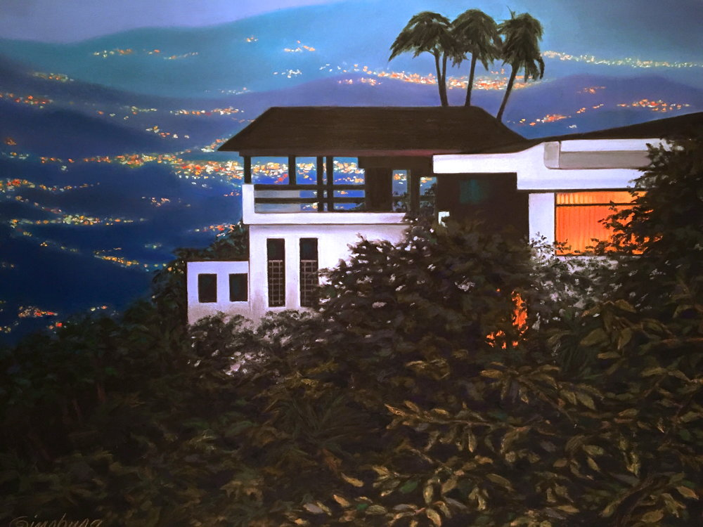 """night falls in Costa Rica"", near atenas, Costa Rica  PanPastel® and traditional pastel  Cheri Ginsburg ©   SOLD"