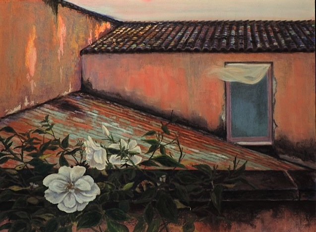 """TUSCAN BREEZE"", DIEVOLE, TUSCANY, ITALY  Pastel Cheri GInsburg ©  JURIED SELECTION- ""HeART OF ITALY "" EXHIBIITON, ITALIAN-AMERICAN MUSEUM. New York CITY. JULY 2017"
