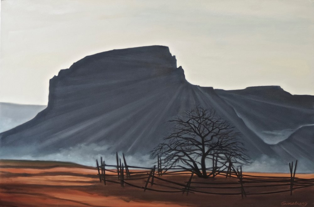 """MORNING MIST"",  GHOST RANCH, NM  Pan Pastel® Cheri GInsburg ©"