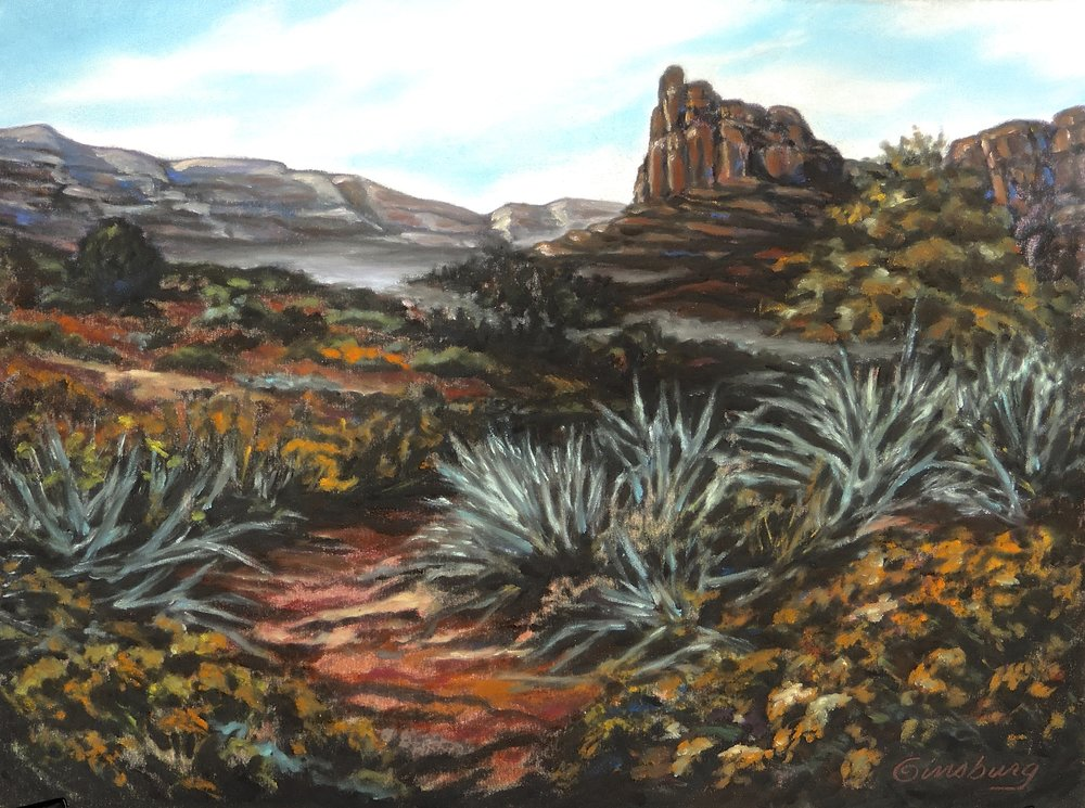 """MORNING MIST"", New Mexico  Pastel Cheri GInsburg ©"
