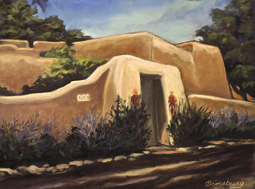 """LAMY HOME"", LAMY, NEW MEXICO  Pan Pastel® Cheri GInsburg ©"