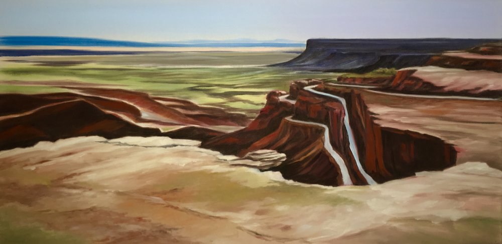 """VALLEY OF THE GODS"", SOUTHERN UTAH  Pan Pastel® Cheri GInsburg ©"