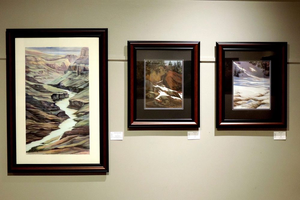"""Grand Canyon GRANDEUR"", ""WINTER THAW"", AND ""WINTER ELEGANCE""  Beautiful hung together... Cheri GInsburg ©"