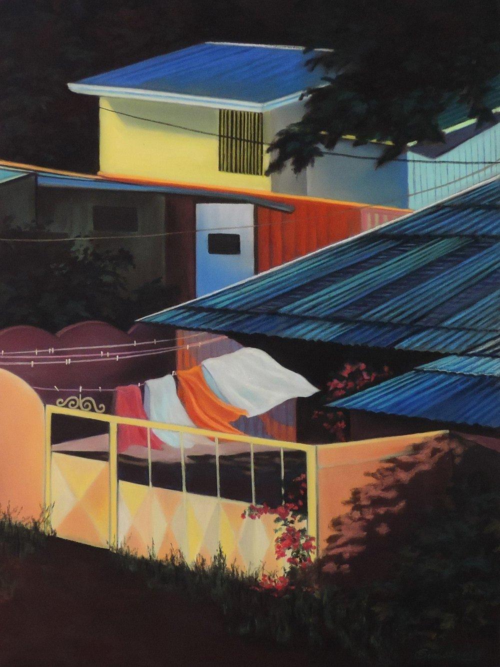 """""""TIN ROOF"""", COSTA RICA  PanPastel® Cheri GInsburg ©"""