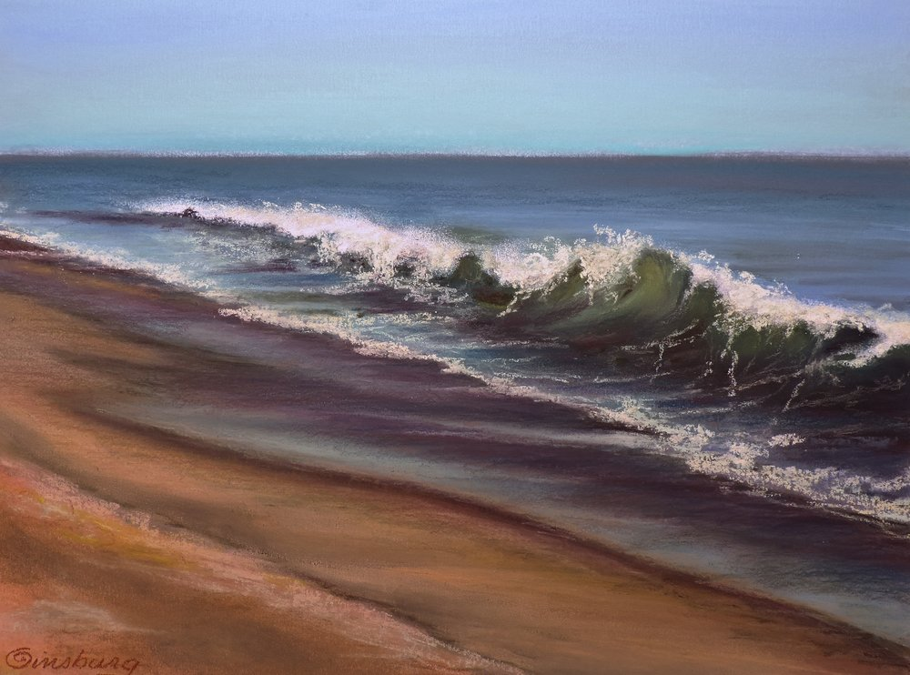 """OCEAN WAVES""  PanPastel® Cheri GInsburg ©"