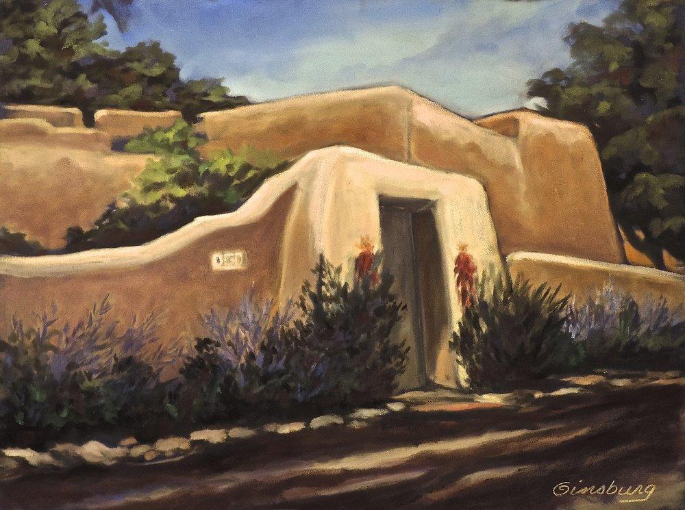 """lamy home"", lamy, New Mexico  Plein Air  PanPastel® Cheri GInsburg ©"