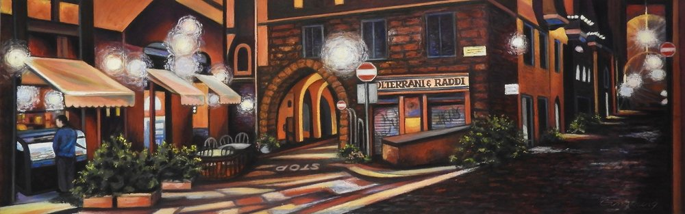"""quiet night in florence"" PanPastel® and traditional pastel Cheri Ginsburg ©"