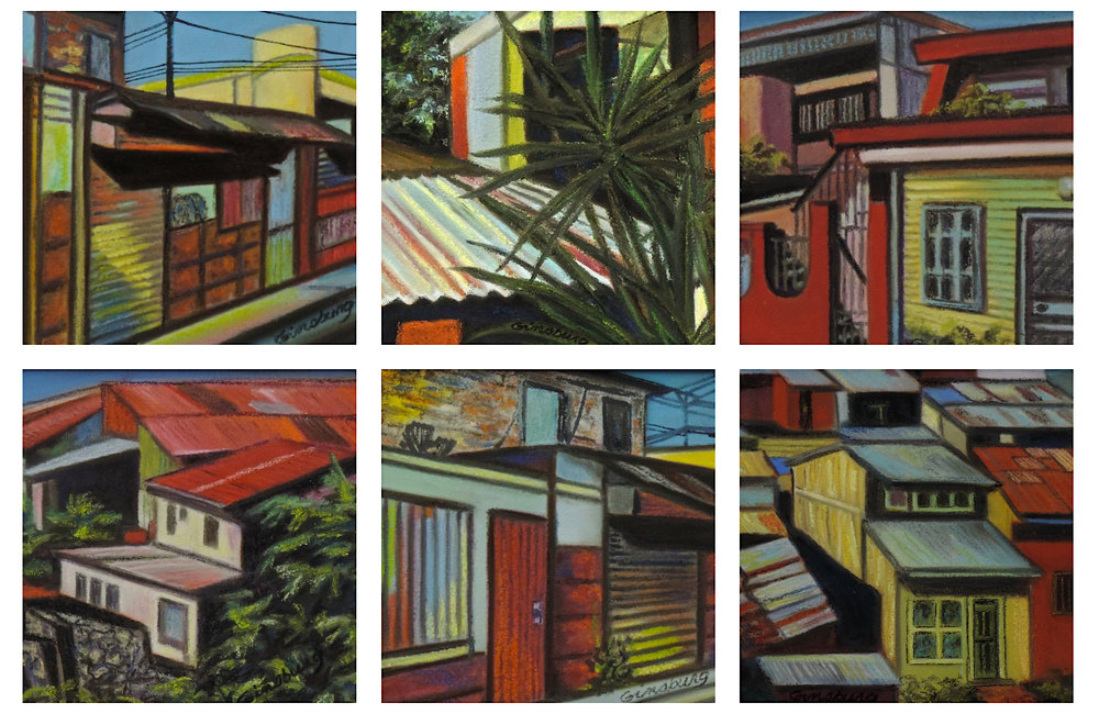 """Costa Rica urban series"", Costa Rica  PanPastel® Cheri GInsburg ©"