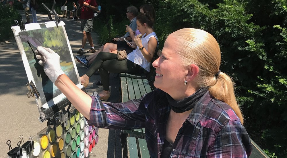 Plein air painting in Central Park, NYC. 2017