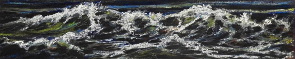 MAKING WAVES  Pastel  5x18  SOLD