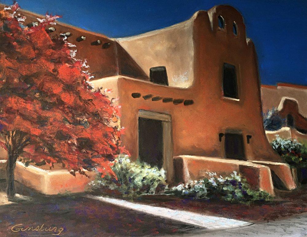 Santa Fe- Untitled Plein Air  11 x 14  Pastel  Cheri GInsburg ©