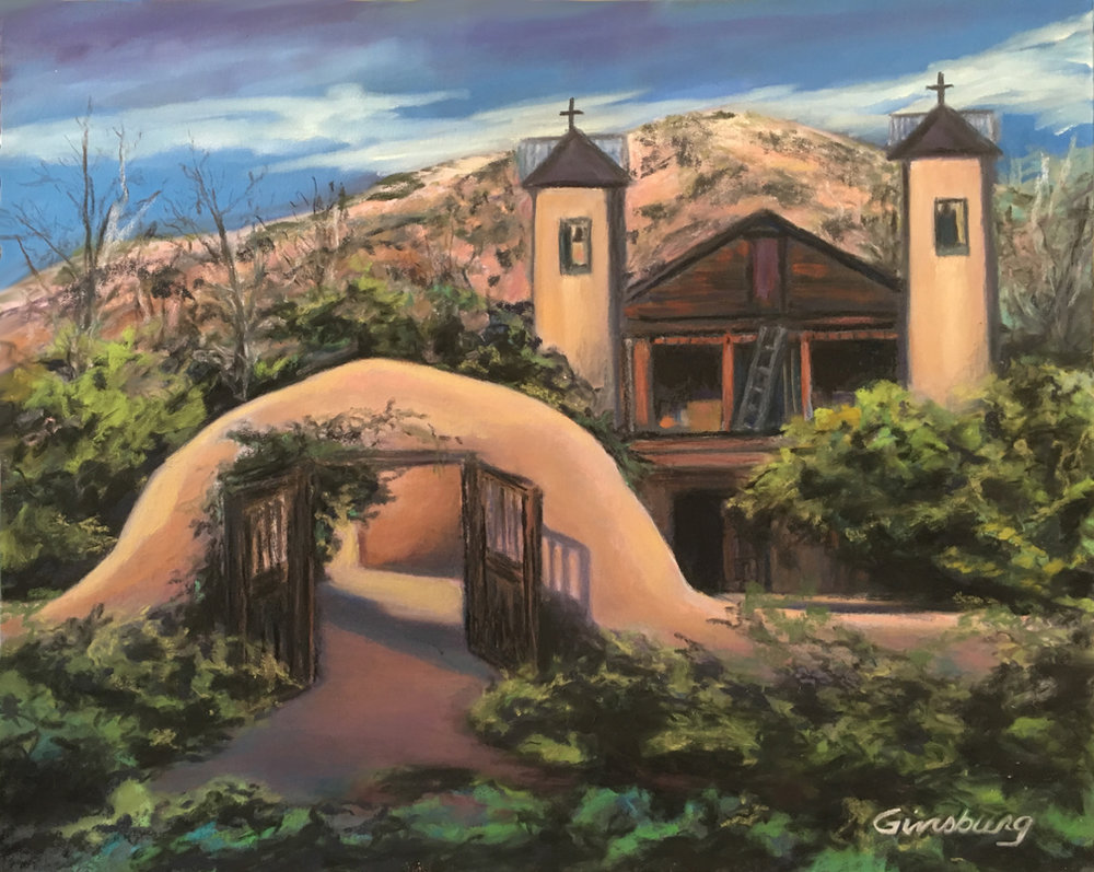 Chamayo  Santa Fe, NM  Plein Air, completed en studio  11 x 14  Pastel  Cheri GInsburg ©