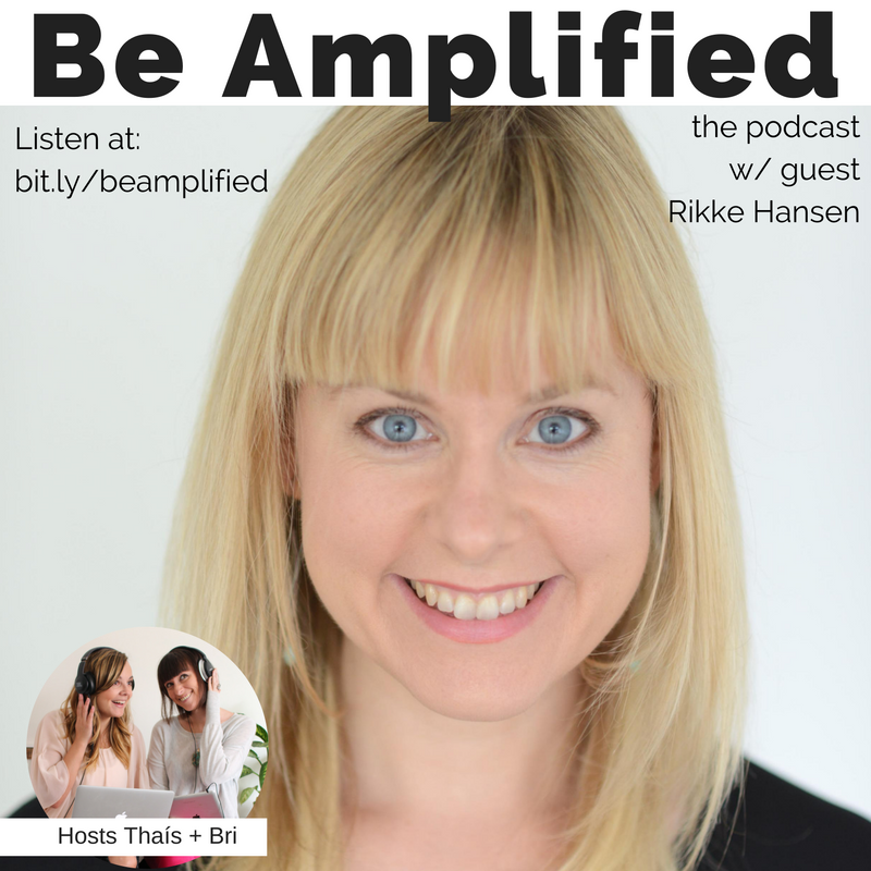 rikke hansen guest for be amplified podcast