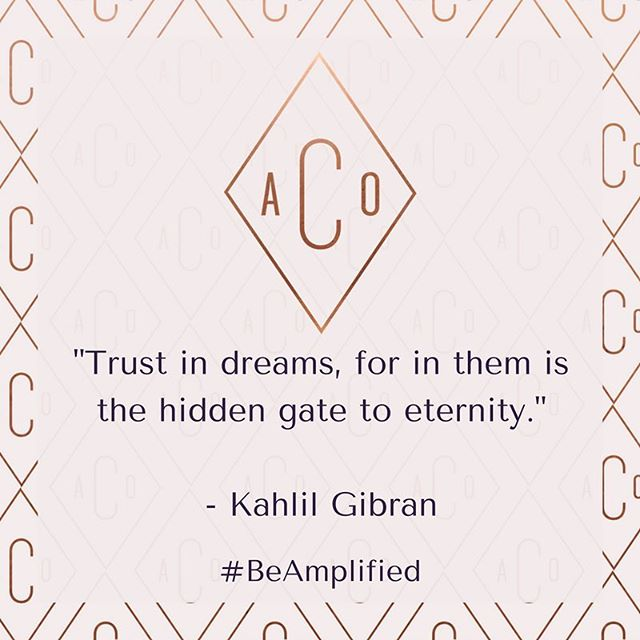 Definitely, definitely keep dreaming. Your imagination is infinite- like you are. #beamplified