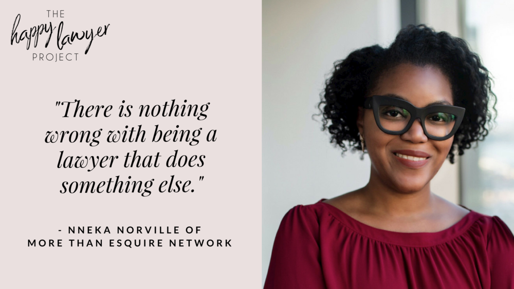 "By  Okeoma Moronu Schreiner   Have you found your community of fellow lawyers to walk with along this journey? I get it! Finding your people as a ""non-traditional"" lawyer can be a challenge. Today, I chat with Nneka Norville, one of the masterminds behind More Than Esquire Network about the work she is doing to build a platform for lawyers just like you.   Listen here"