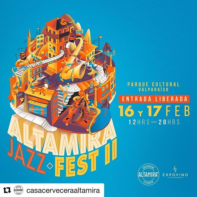 [EVENTO] II Altamira Jazz Festival, evento GRATUITO y para toda la familia #Jazz #foodtrucks #CervezaAltamira Cuando? 16 y 17 de febrero de 12:00 a 20:00hrs Donde? Parque Cultural Ex Cárcel / Cárcel 471, Valparaíso Descarga tus entradas 👇 https://www.weliveapp.com/company/altamirajazzfestival No te lo pierdas 😊🍻🎷🎸🎺 @juanpabloriveramusic @juancristobalaliaga @josemoraga.trombon @rodrigo.espinozae @nicoveranicovera @pablomenaresbass @felix_lecaros @sebajordan #jazz#valparaiso#festival#verano#discospendiente