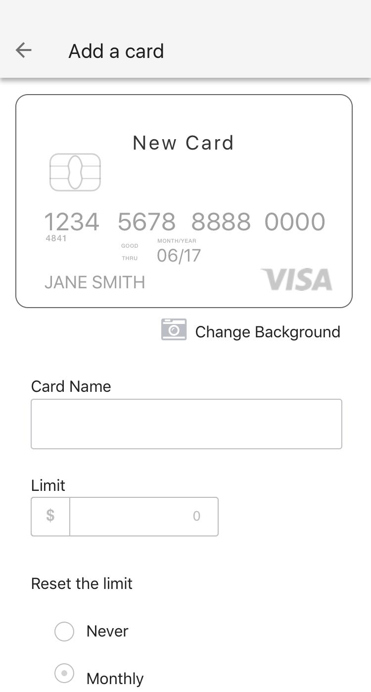 Adding Card
