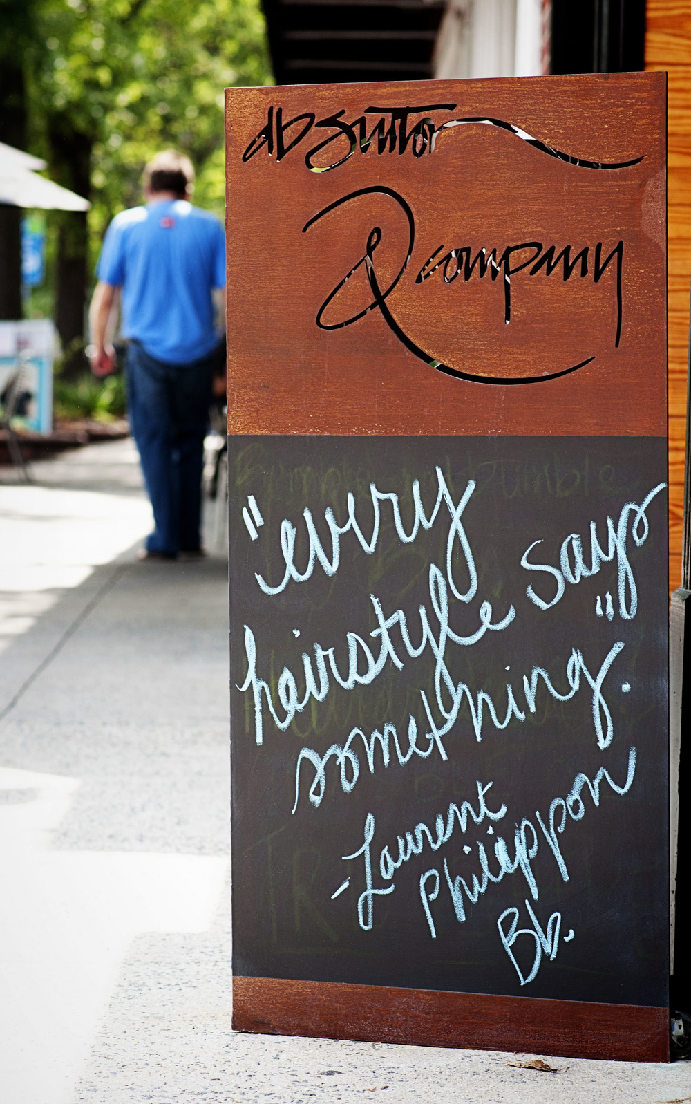 Chapel Hill - Franklin Street - sandwich boards - signs - summer - NC