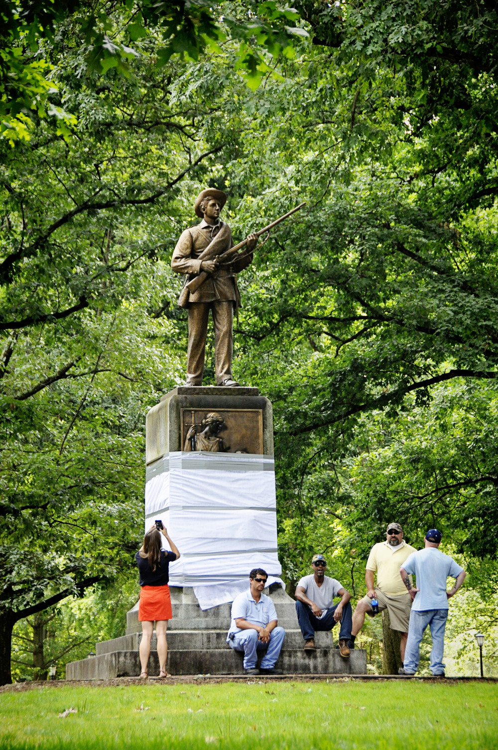 University of North Carolina at Chapel Hill Silent Sam controversial statue of confederate soldier dubbed Silent Sam.