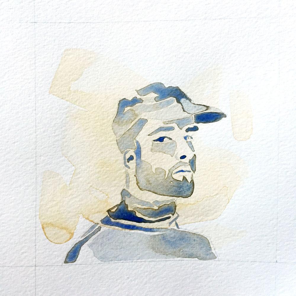 all we've known / watercolor portrait hat 3/3