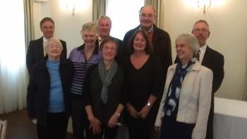 Quarter peal team, including Sue Webster
