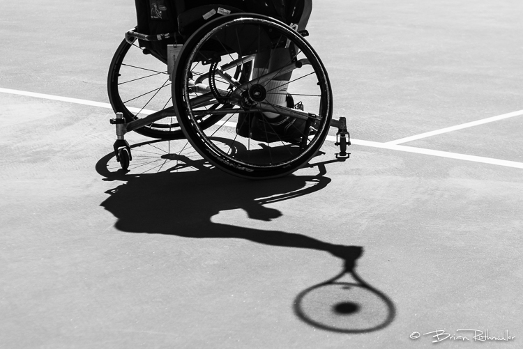 11/3/16 --- Wheelchair Tennis --- Mauricio Pomme of Brazil serves during the 2016 UNIQLO Wheelchair Doubles Masters tournament at Marguerite Tennis Pavilion in Mission Viejo, CA.  Photo by Brian Rothmuller/Sports Shooter Academy