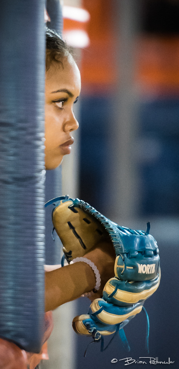 11/4/16 --- Softball --- A Vanguard player looks on during their game against Cal State Fullerton at Anderson Family Field in Fullerton, CA.  Photo by Brian Rothmuller/Sports Shooter Academy