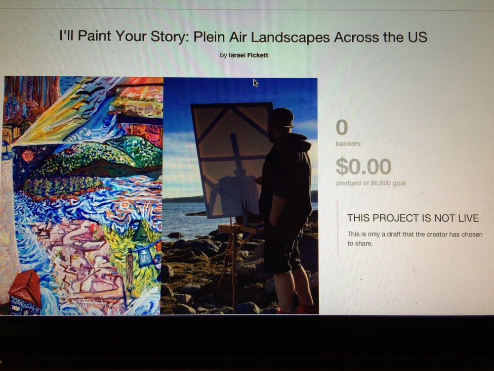 Screenshot of my Kickstarter Project Page the day before I launch it.