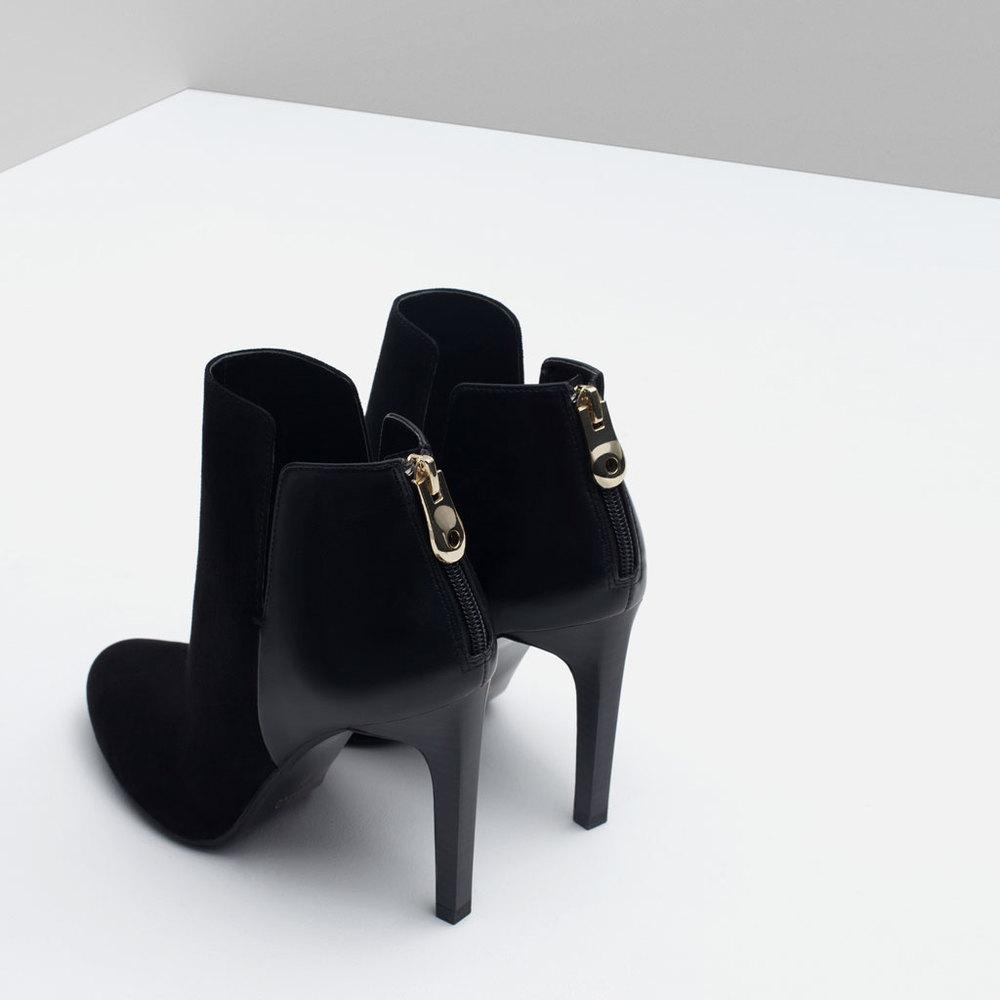 Zara Combined High Heel Boot