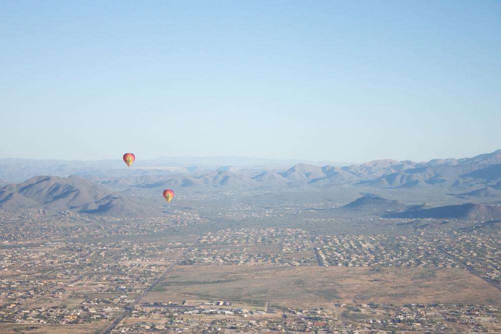 view from Aerogelic Hot Air Ballon Ride