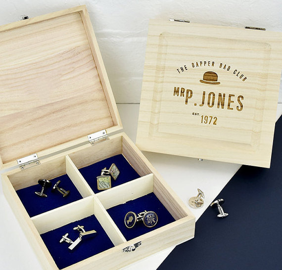 ENGRAVED CUFFLINK BOX