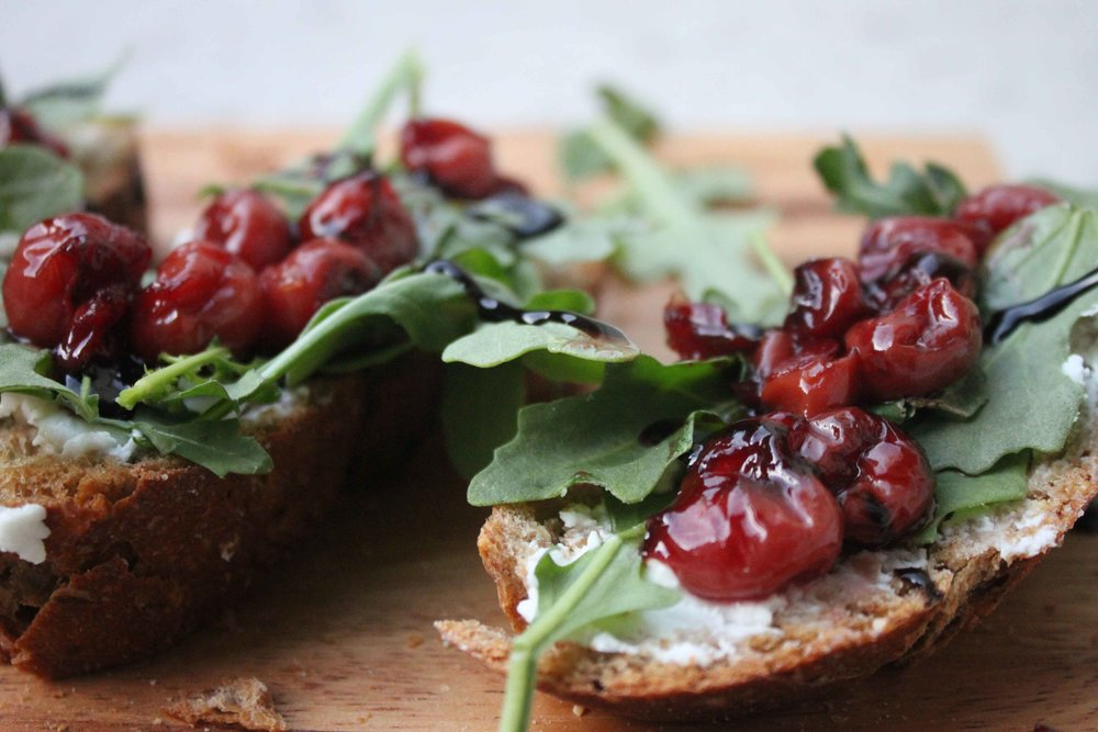 cherries jubilee bruschetta recipe charisma shah