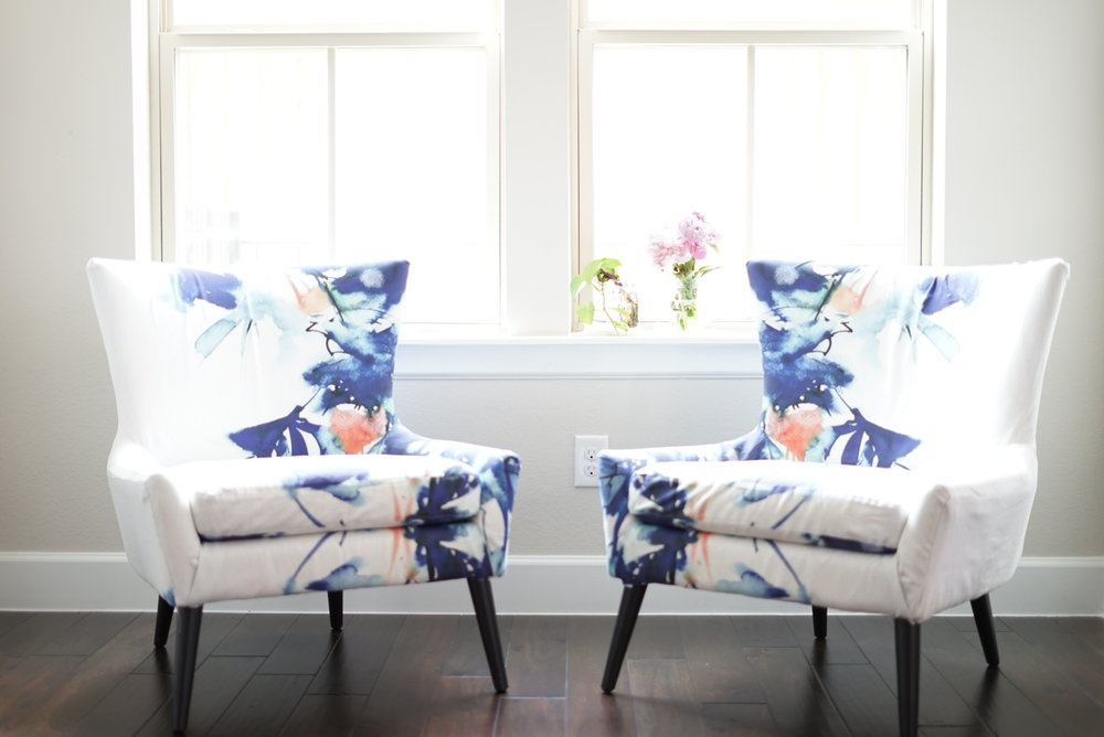 DIY watercolor accent armchair tutorial charisma shah