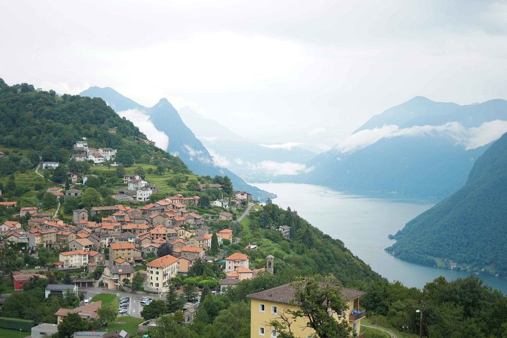 view of Lugano from Monté Bre